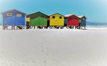 Strandhäuser bunt