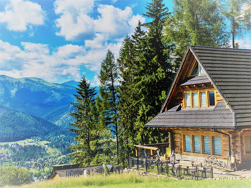 Blockhütte Berge Chalet
